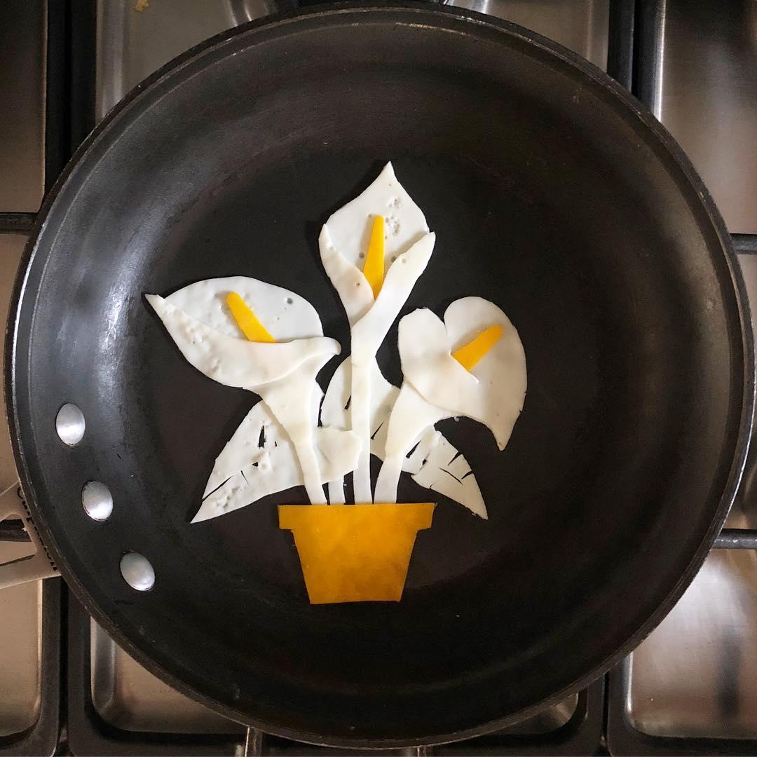 цветы на сковороде Бальдини