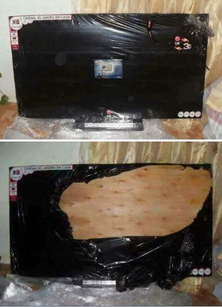 телевизор с деревянным экраном