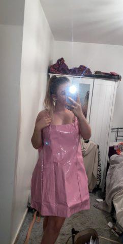 неудачное латексное платье