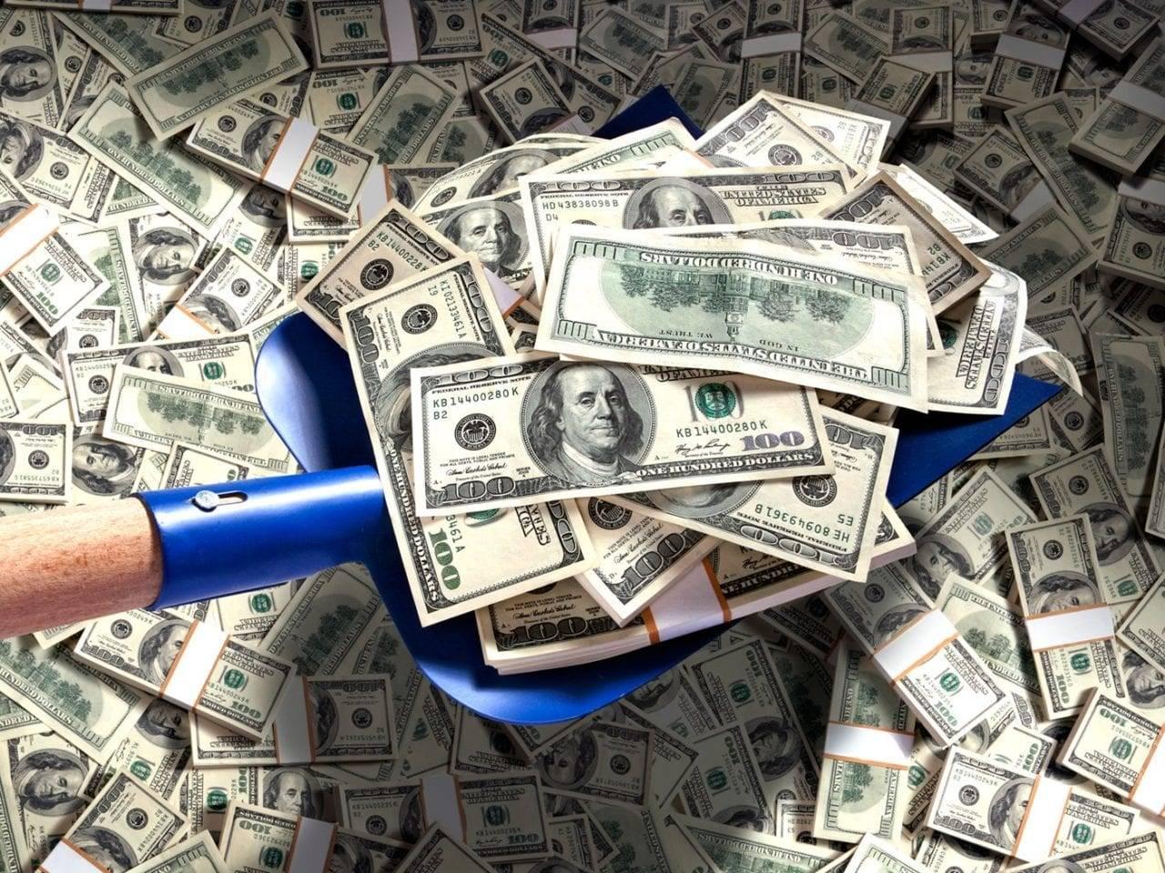 грести деньги лопатой