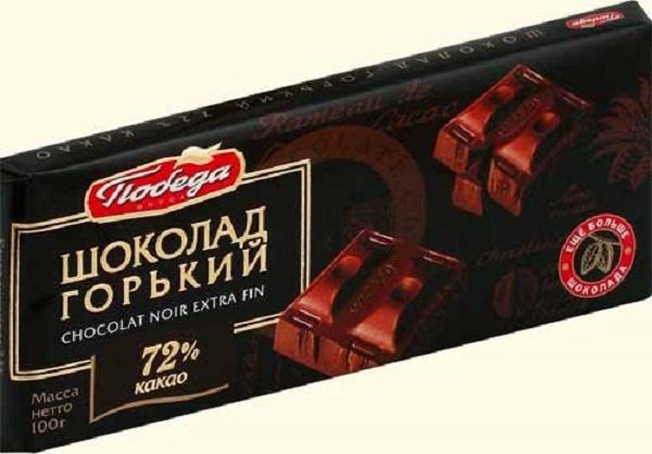 черный шоколад Победа