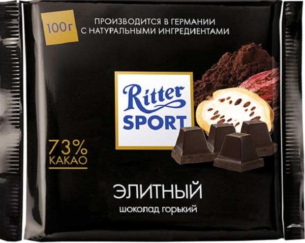черный шоколад Ritter Sport