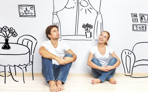 пара мечтает о собственное жилье