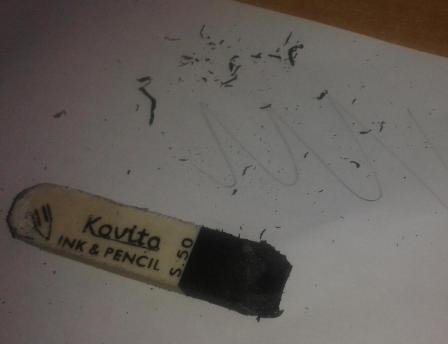 Ластик пачкает бумагу