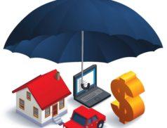 зонтик-страховка над деньгами и имуществом