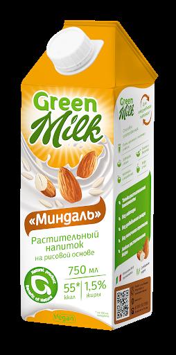 """растительное молоко Green Milk """"Миндаль"""""""