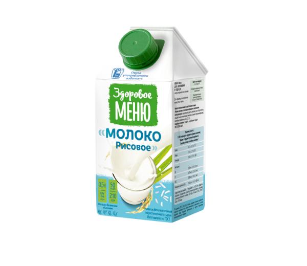 """растительное молоко Рисовое молоко """"Здоровое Меню"""""""