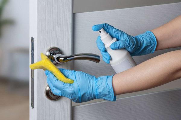 дезинфекция дверных ручек