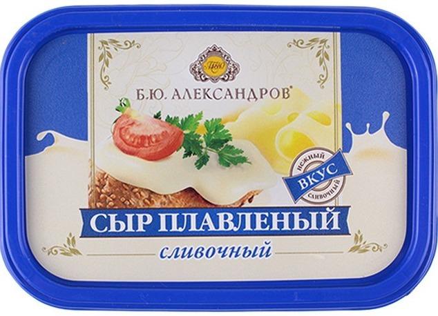 """плавленый сыр """"Б.Ю.Александров""""."""