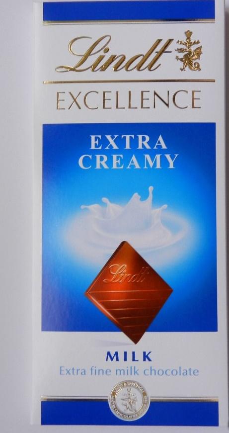 Lindt Exellence Extra Cream молочный шоколад