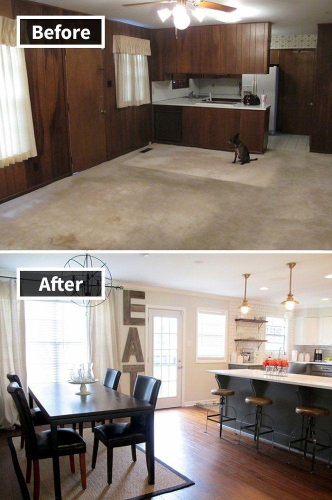 ремонт столовой до и после