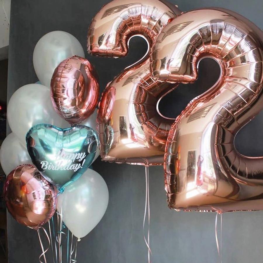 шарики с днем рождения 22 года