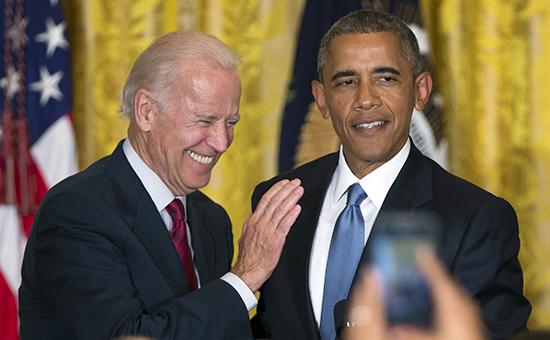 Байден с Обамой