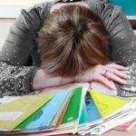 уставший учитель