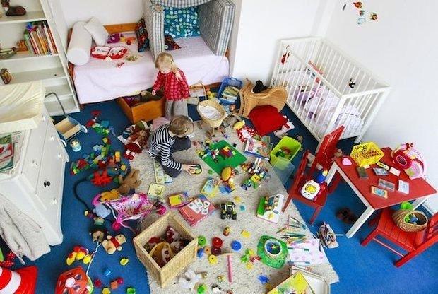 дети устроили бардак в квартире