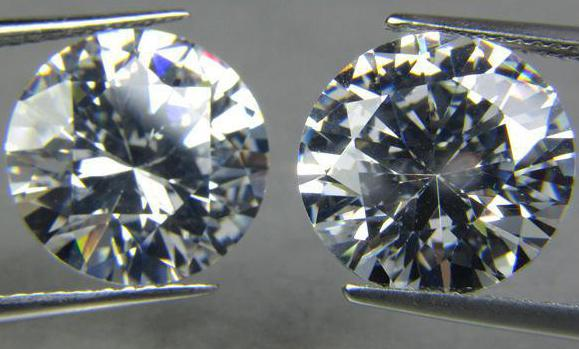 цирконий и бриллиант сравнение