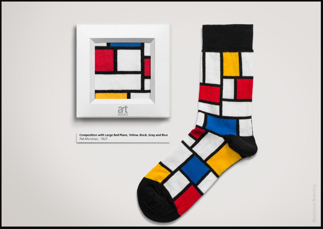 интересная упаковка носков
