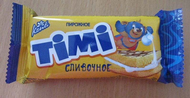 Пирожное Konti «Тими» сливочное