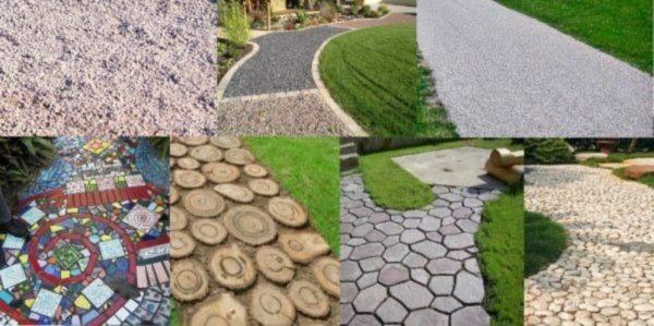 варианты покрытий садовых дорожек