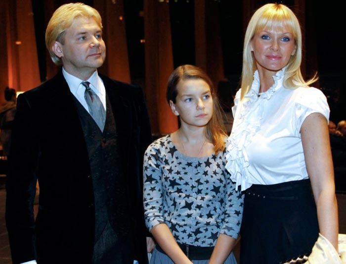 Андрис Лиепа с семьей