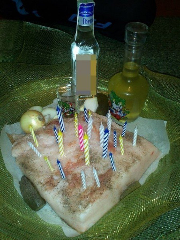 торт из сала под водку