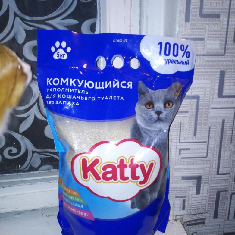Katty из Пятерочки наполнитель для лотка