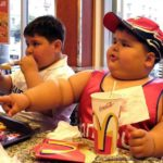 толстые мальчики едят в макдональдс
