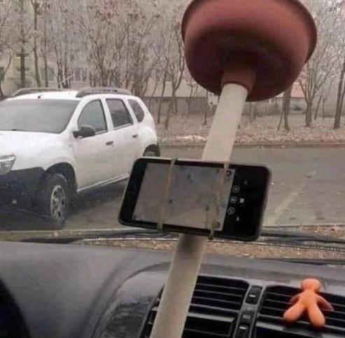 Прикольный держатель для смартфона