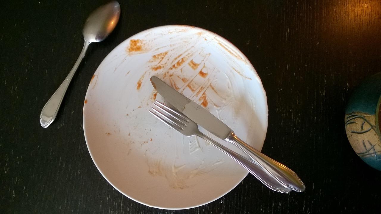 грязная тарелка