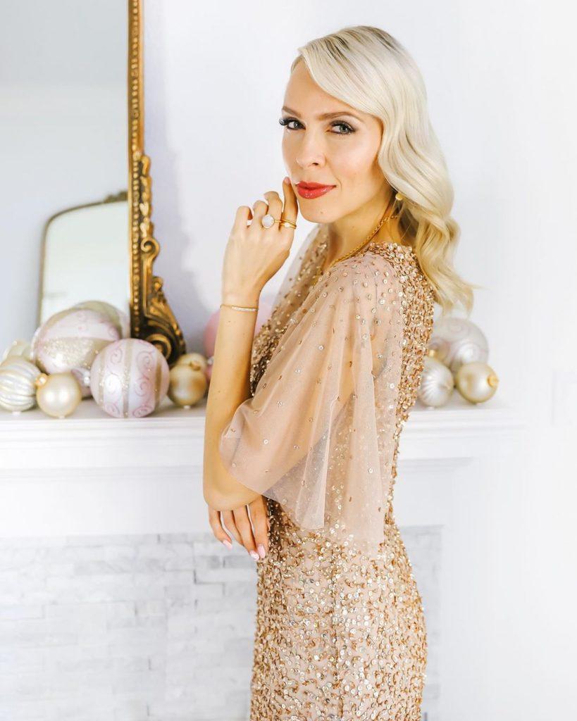 Жемчужное новогоднее платье