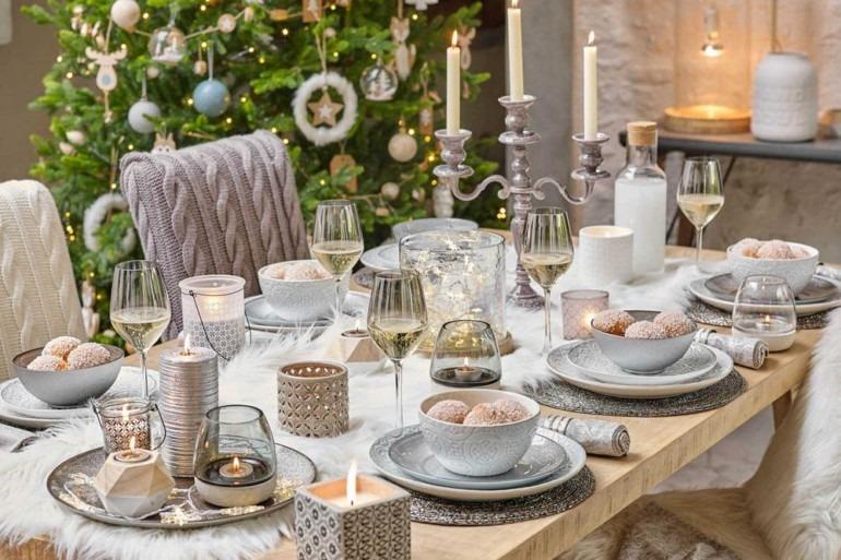 вариант сервировки новогоднего стола