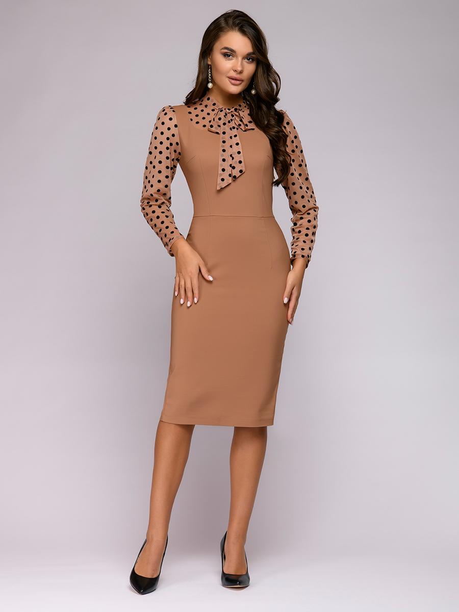 Песочное платье