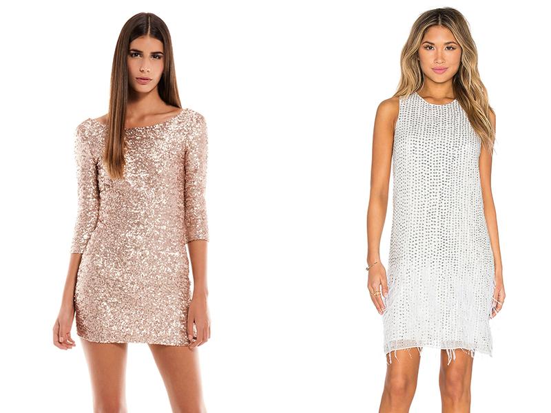 сверкающие коктейльные платья