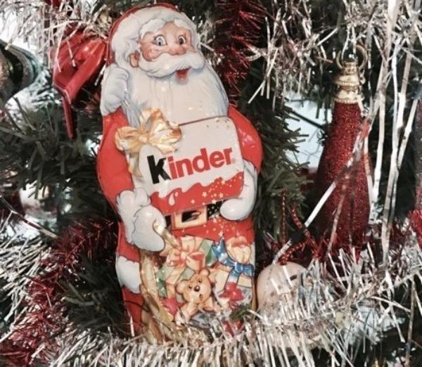 """шоколадный дед мороз""""Киндер"""""""