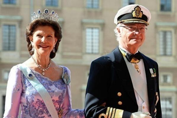Король Карл XVI и его жена Сильвия