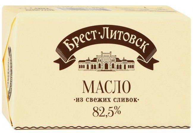 сливочное масло Брест-Литовск.