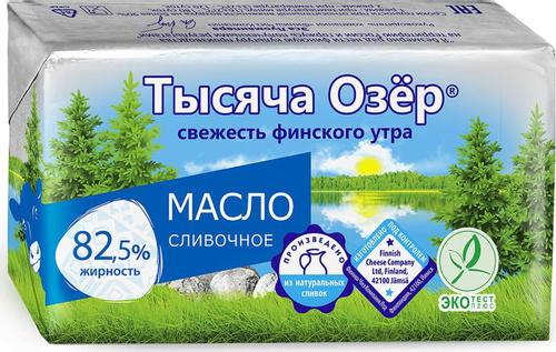 сливочное масло 1000 озер