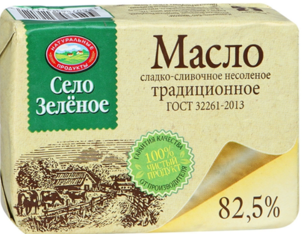 Сливочное масло Село зеленое.