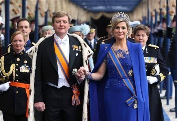 Король Виллем-Александр и его жена Максима
