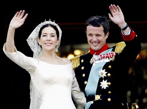 Датский принц Фредерик и его жена Мэри