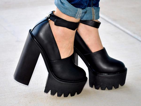 ботинки с грубой подошвой