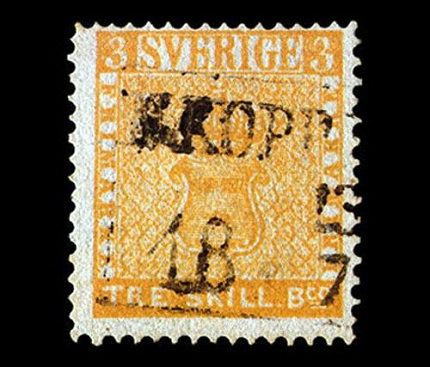 Желтая шведская марка