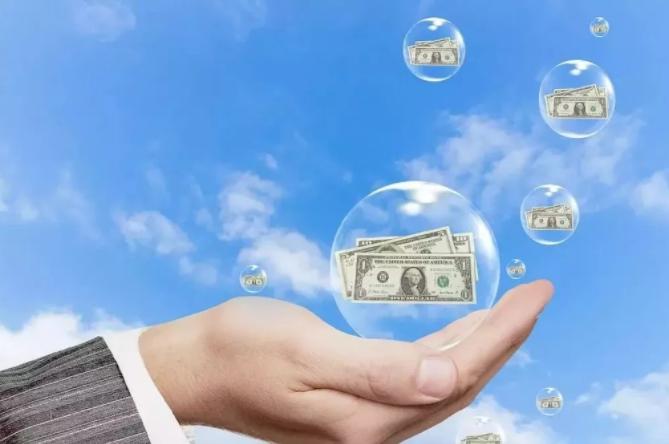 финансовый пузырь на руке