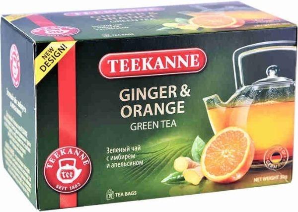 TEEKANNE Ginger & Orange зеленый с имбирем и апельсином чай