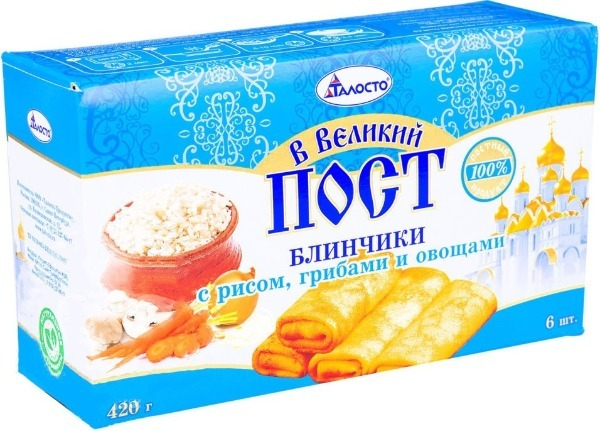 «Блинчики с рисом и грибами» талосто