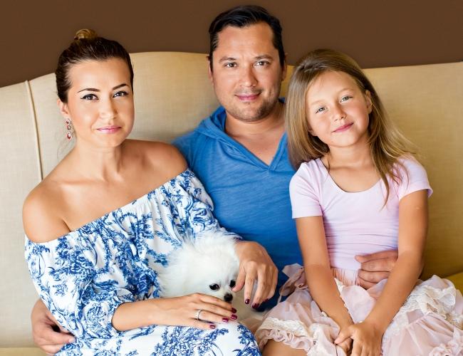 Петр Кутис с женой и дочерью