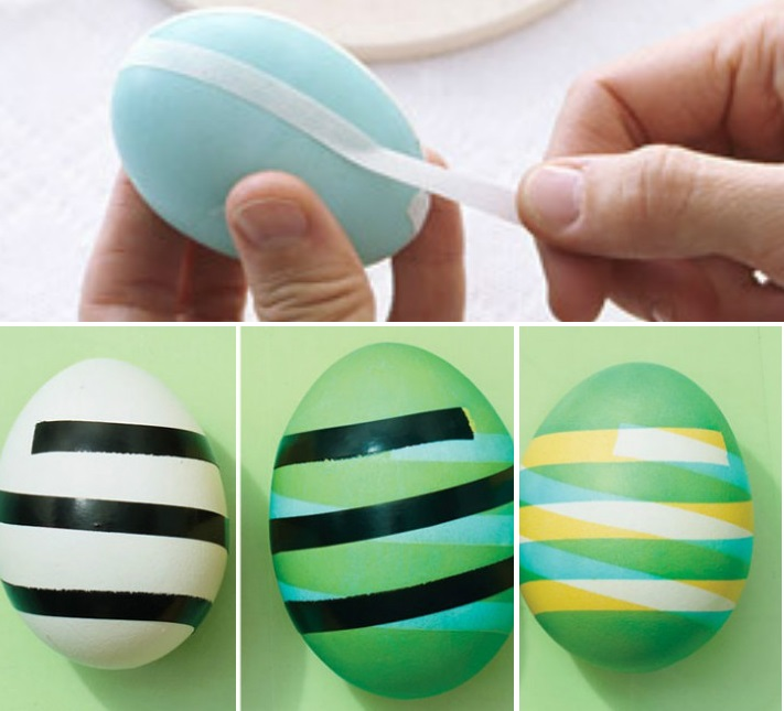 Скотч и покраска яиц