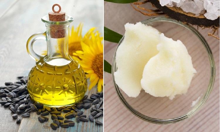 Подсолнечное и пальмовое масло