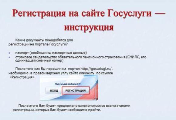 Регистрация на сайте Гоуслуги