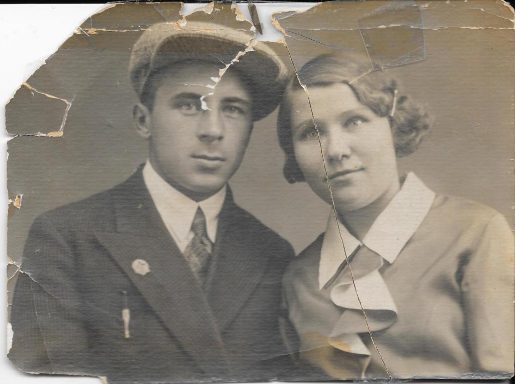 Старая фотография пары